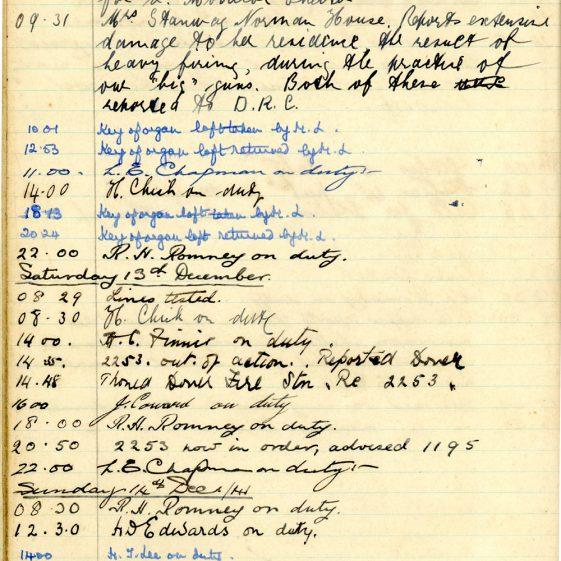 St Margaret's ARP (Air Raid Precautions) Log. Volume 5. 25 September 1941 - 17 July 1942. pages 39 - 47.