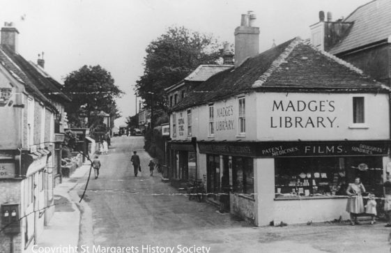 High Street and Madge's Stores.  c1950s.