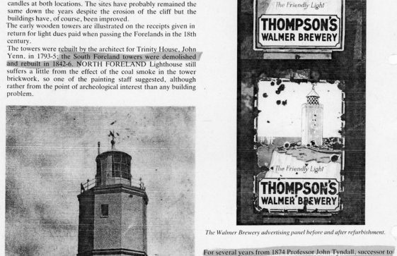Article about the South and North Foreland Lighthouses. 1986
