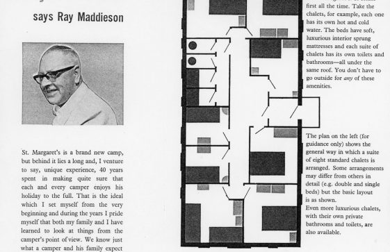Maddieson's Holiday Camp advertising leaflet. 1963