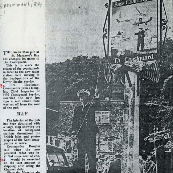The Green Man re-named The Coastguard. 1971