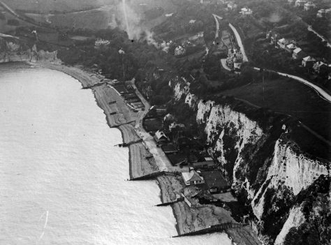 Aerial view of the Bay looking SW. Pre 1930