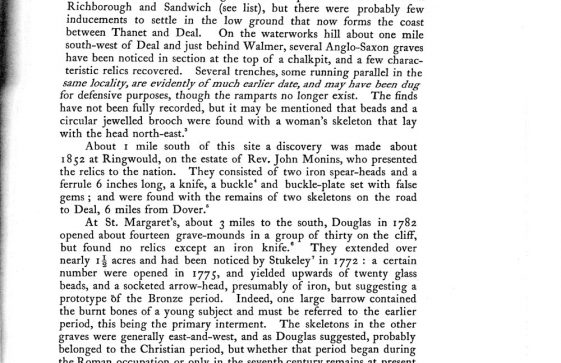 Douglas' excavations at St Margaret's in 1792 - Victoria County History article