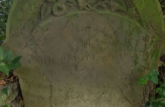Gravestone of SAMPSON John Pigott 1903
