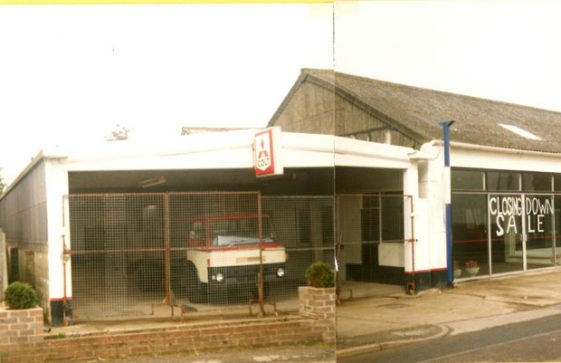 St. Margaret's Motors, Reach Road, and its demolition. February 1988