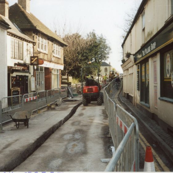 Renewal of gas mains in the High Street. 2008