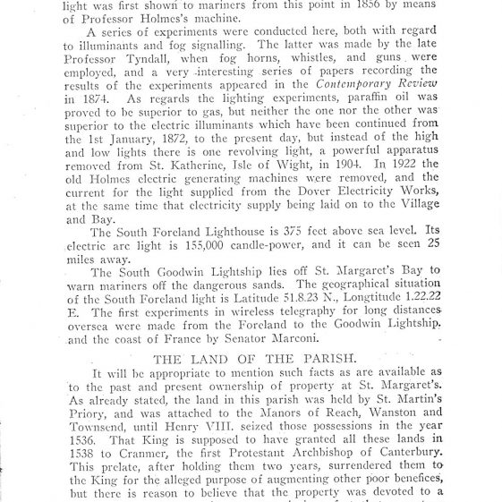 St Margaret's-at-Cliffe Guide 1925, pages 25-36