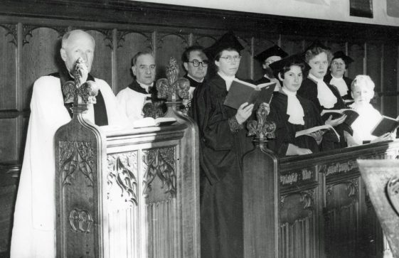 St Margaret's church choir in St Margaret's Church. C1953