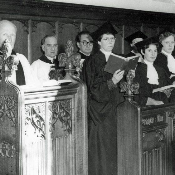 St Margaret's church choir in St Margaret's Church. C1953