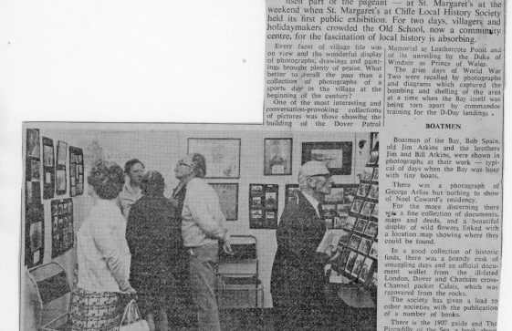 St Margaret's History Society first Exhibition. 20th July 1972