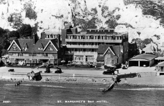 St Margaret's Bay Hotel from the sea, St Margaret's Bay. 1937