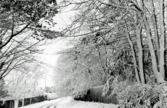 The Bay area in the snow. 1970