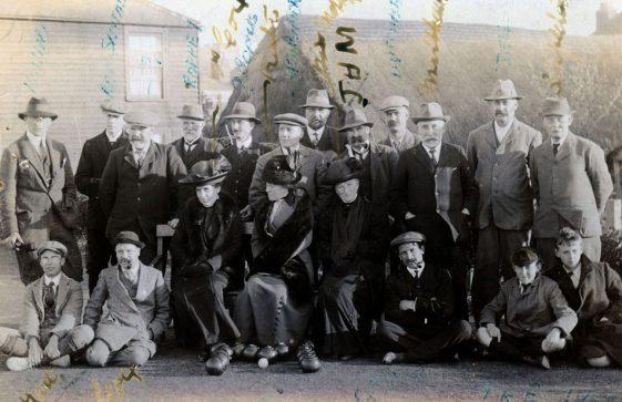 Bowls Club members.  c1913