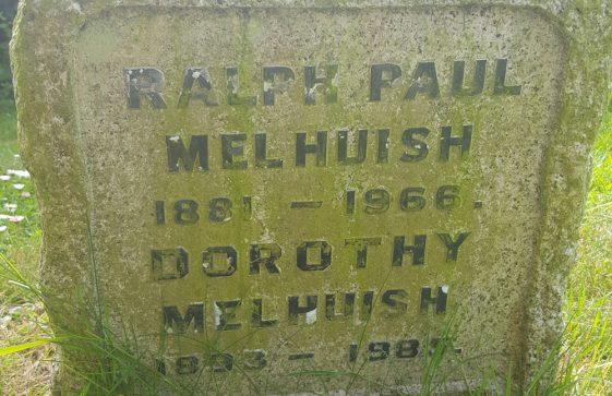 Gravestone of MELHUISH Ralph Paul 1966; MELHUISH Dorothy 1985