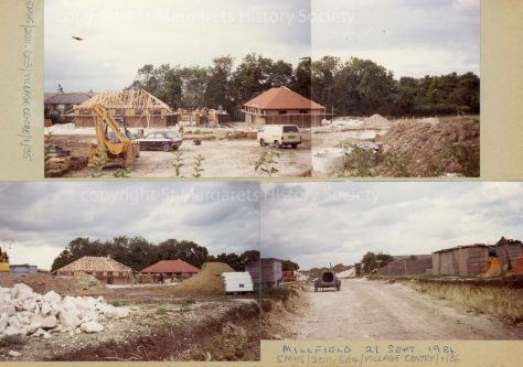 Millfield building site, Station Road. 21 September 1984