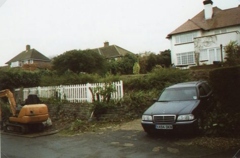 The Outlook, Salisbury Road. Front hedge removal. 2008