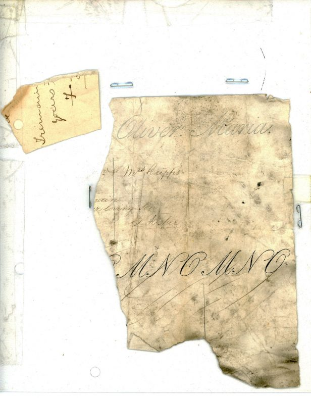Fragments from a hand writing exercise book found in the Cliffe House School