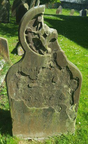 Gravestone of FISHER John James 1859