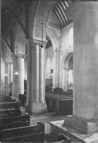 Interior of St Margaret's church taken from the north aisle, c1909