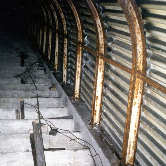 Interior of the deep shelter near South Foreland lighthouse. 25 April 2003