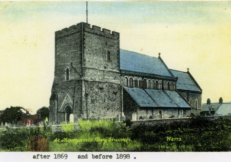 St Margaret's Church from south west. Post 1869; pre 1898