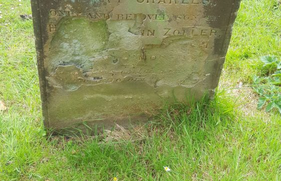 Gravestone of ZOLLER Henry Charles 1871