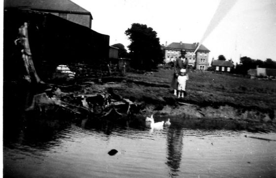 Reach Road pond, pre World War Two