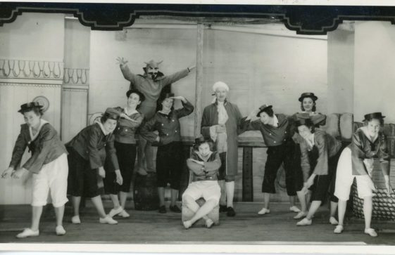 Scene from St Margaret's Players pantomime 'Beauty and the Beast'. 1955