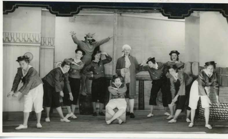 A scene from the St. Margaret's Players pantomime 'Beauty and the Beast' 1955
