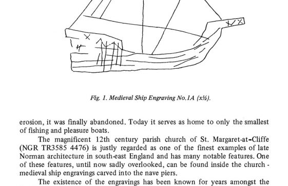 Medieval Ship graffiti in St Margaret's Church