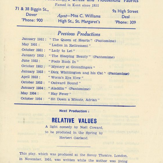 Programme of St Margaret's Players Pantomime 'Beauty and the Beast.' 1955