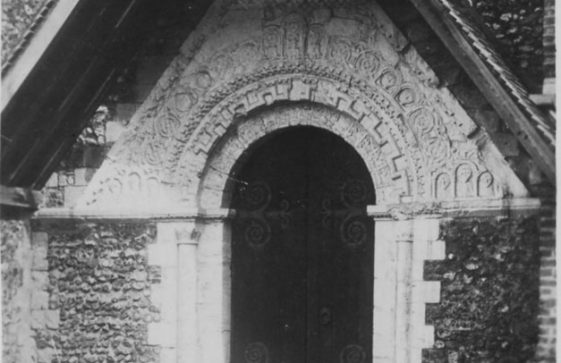 'Norman Doorway, St. Margaret's-at-Cliffe'. c1910