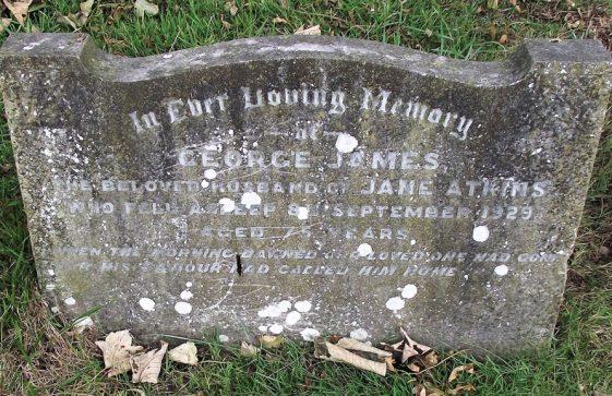Gravestone of ATKINS James George 1929