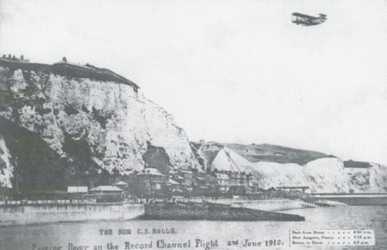 Charles Rolls' record Channel Flight on 2 June 1910