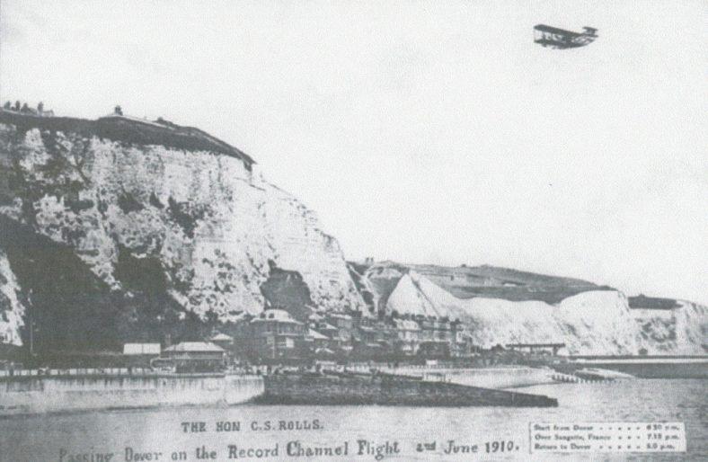 Charles Rolls' record Channel Flight on 2 June 1910