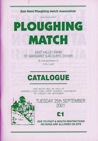 Catalogue cover for The Ploughing Match at East Valley Farm. 25 September 2001