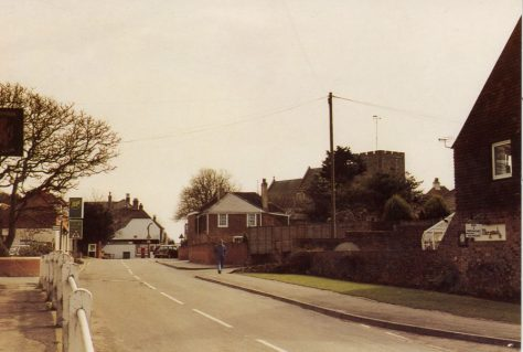 Station Road leading to the High Street, St. Margaret's at Cliffe. c1990