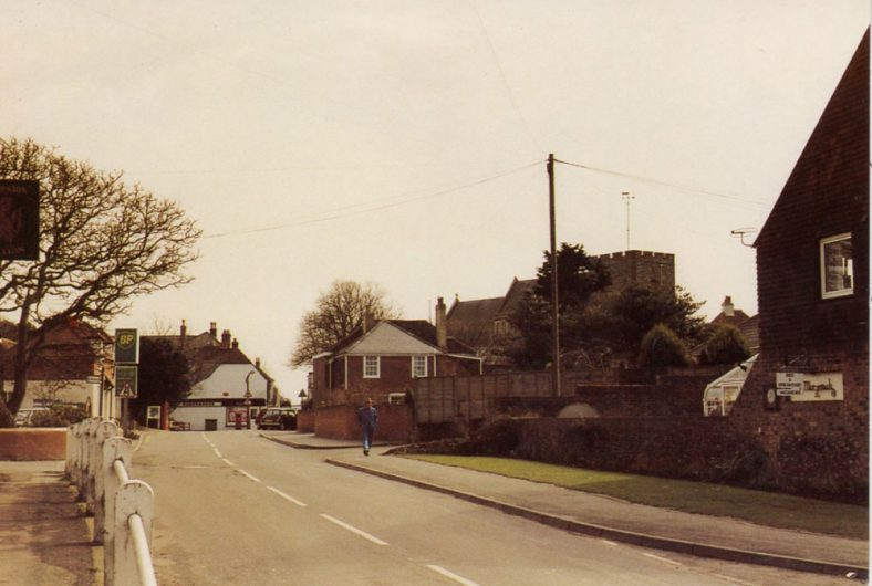 Station Road leading to the High Street, St. Margaret's-at-Cliffe. c1990