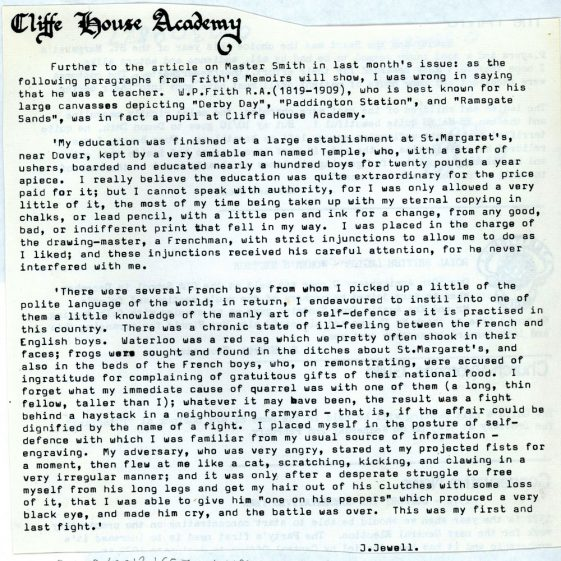 Cliffe House Academy and Cliffe Hotel; three articles.