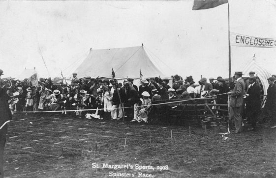 Spinster's Race at St Margaret's Sports Day. 1908