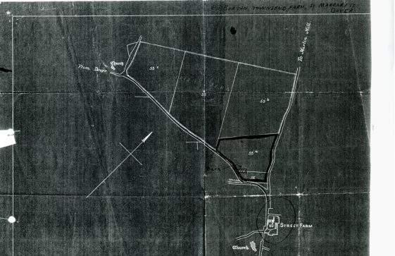 Plan of Street Farm and local fields relating to land requisitioning during WWII
