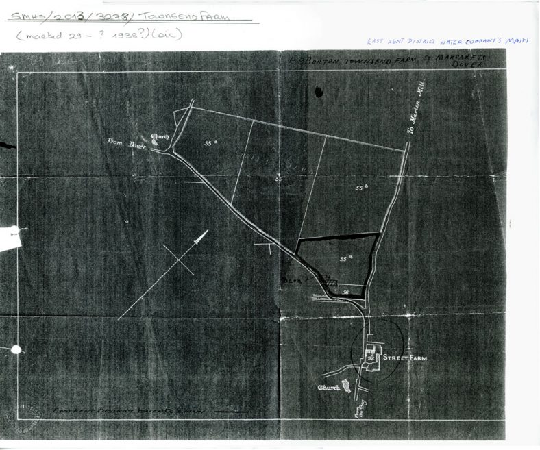 Plan of Street Farm and local fields requisitioning during WW2