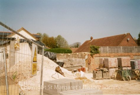 Site of the former Knoll Garage, High Street.  April 2004.