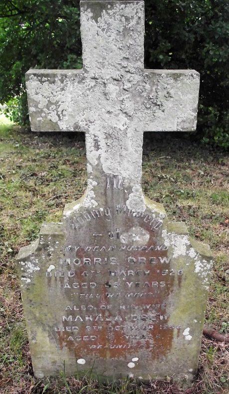 Gravestone of DREW Morris 1928; DREW Mahala 1954 | Dawn Sedgwick