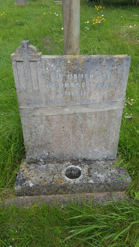 Gravestone of SMITH Florence Alice 1968 | Dawn Sedgwick