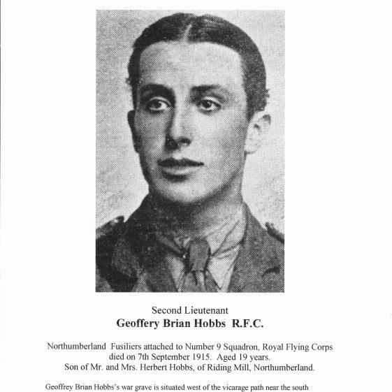 Second Lieutenant Geoffrey Hobbs RFC