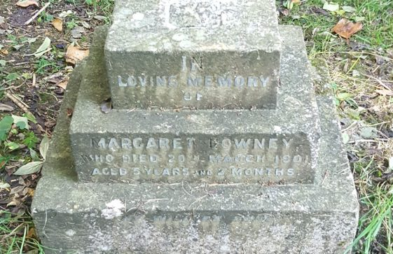 Gravestone of DOWNEY Margaret 1901