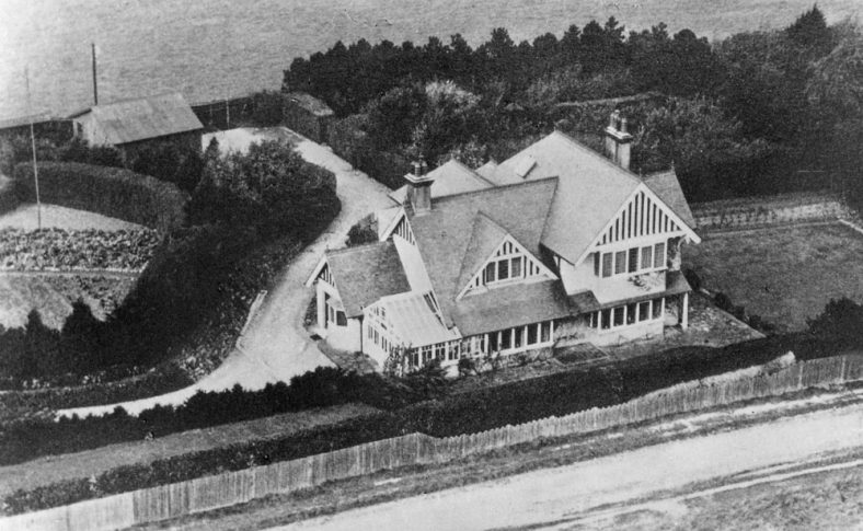 An aerial photograph of 'Southolme'', Sea View Road, which clearly shows the enlargements made.