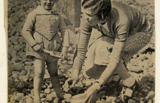 Prince Edward and Princess Alexandra at St Margaret's Bay. 1939