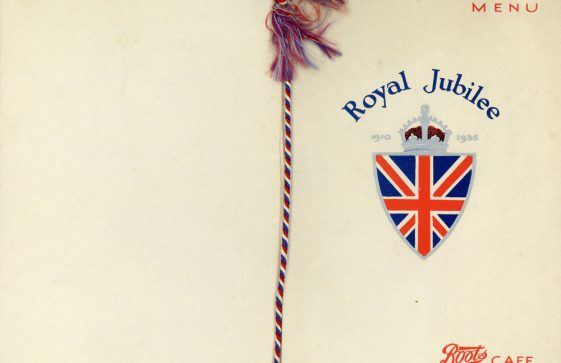 A Royal Jubilee menu souvenir from Boots Café Restaurant 1935